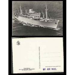 B)1910 FRANCE, BOAT, MARITIME, SEA, PAQUEBOT FRACES, LEON, MARITIME COURIER COMP