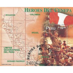 E)1998 PERU, HEROES OF THE CENEPA RIVER, MILITARY, MULTICOLORED, 1194 A533, MNH