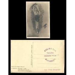 B)1894 ROMANIA, ART, PAINTING, LADY, WORKER WOMAN, PAINTER NICOLAE GRIGORESCU, P