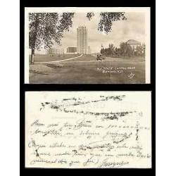 B)1910 USA, BUILDING, NORTH DAKOTA STATE CAPITOL, BISMARCK ND, VINTAGE REAL PHOT