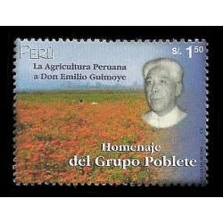E)2000 PERU, EMILIO GUIMOYE, FIEL OF FLOWERS, FARMING, 1256 A575, MNH