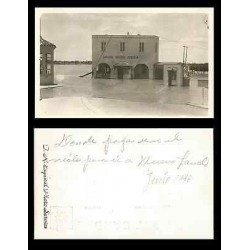 B)1948 USA, STREET, VINTAGE, BUILDING, FLOOD, LAREDO BRIDGE SYSTEM, POSTCARD