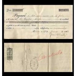 B)1913 MEXICO, REVENUE, RECEIPT, XF