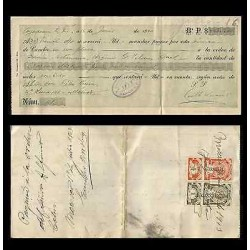 B)1921 MEXICO, DOBLE RATED REVENUE, RECEIPT, XF