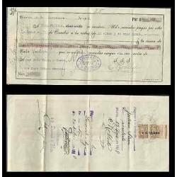 B)1919 MEXICO, REVENUE, RECEIPT, XF