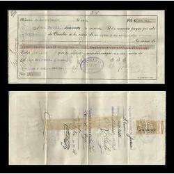 B)1918 MEXICO, REVENUE, RECEIPT, XF
