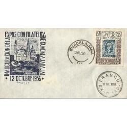 B)1956 MEXICO, CASTLE, ARCHITECTURE, INAUGURATION PHILATELIC EXHIBITION GUADALA