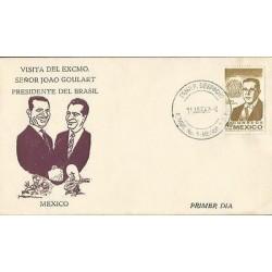 B)1962 MEXICO, PRESIDENT, EXILE, JOAO GOULART, PRESIDENT OF BRAZIL EXILE IN URUG