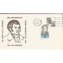 B)1967 MEXICO, CHARACTER, HEROES, 150TH ANNIVERSARY OF THE DEATH OF THE INSURGEN