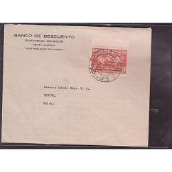 E)1937 ECUADOR, BANK DISCOUT, ANNIVERSARY OF THE MEASUREMENT OF THE HIGHT COUNTR
