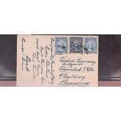 E)1925 ECUADOR, ROCA PAIR OF 2, GARCIA MORENO, PAPAYA, POSTCARD