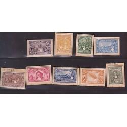 E)1921-23 COSTA RICA, PROOFS, MANUEL M. GUTIERREZ, ABN DIE CARDBORAD, 117 TO 12