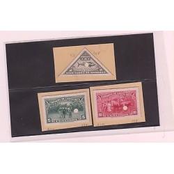 E)1937-38 COSTA RICA, PROOFS, NATIVE WITH DONKEY CARRYING BANANAS, TUNA, CACAO
