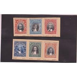 E)1911-28 ECUADOR, PROOFS, PRESIDENTS, ROCA, NOBOA, ROBLES, URBINA, MORENO, BORR