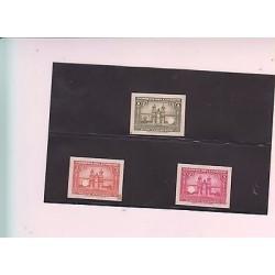 E)1944 ECUADOR, PROOFS, CATHEDRAL OF QUITO, 243 TO 245, SET, MNH