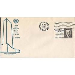B)1966 MEXICO, BUILDING, SECRETARY, UNITED NATIONS, VISIT OF THE SECRETARY GENER