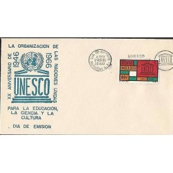 B)1966 MEXICO, UNESCO, EDUCATION, UNITED NATIONS, 20TH ANNIVERSARY OF THE UNITE