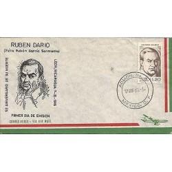 B)1966 MEXICO, POET, 50TH ANNIVERSARY OF DEATH NICARAGUAN POET RUBEN DARIO, AIR