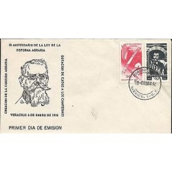 B)1966 MEXICO, LAW, REFORM, FARMERS, EARTH, 50TH ANNIVERSARY OF THE LAW OF LAND