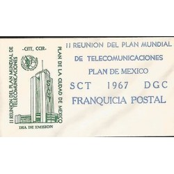 B)1967 MEXICO, BUILDING, GLOBAL PLAN MEETING OF TELECOMMUNICATIONS, PLAN MEXICO