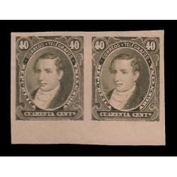 E)1890 ARGENTINA, PROOFS, MARIANO MORENO, 80 A53 40C OLIVE GREEN, MNH