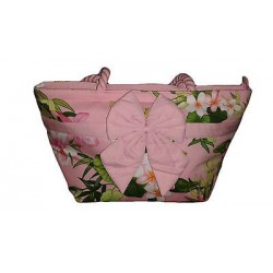 Tropical pink handbag