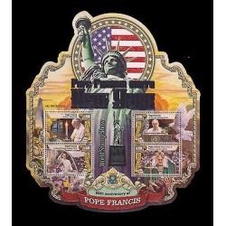 E)2016 SIERRA LEONE, 80TH ANNIV. OF POPE FRANCIS, VISIT NEW YORK, NY WORLD STAMP