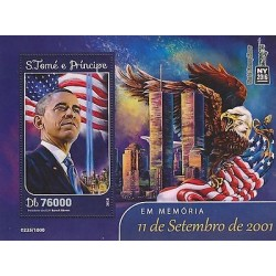 E)2016 SAO TOME AND PRINCIPE, BARACK OBAMA, PRESIDENT OF EEUU, EAGLE, FLAG, 11