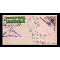 E)1932 ECUADOR, ARCHER HARMAN, 178, A59, AIR MAIL, NATIONAL AVIATION TRIANGLE