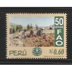 E)1996 PERU, FAO, 50TH ANNIV, 1134, MNH