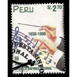 E)1998 PERU, NATIONAL SYMPHONY ORCHESTA, 60TH ANNIV. 1191 A530, MNH