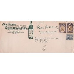 E)1953 CARIBBEAN, MARTI AT ST. LAZARUS QUARRY, PAIR OF 2, RUM QUIROGA, RUM PINI