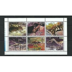 o) 2000 TAJIKISTAN, DINOSAURS, MINI SHEET MNH