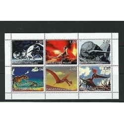 O) 1999 RUSSIA - DAGESTAN, DINOSAURS, MINI SHEET, MNH