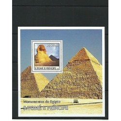 O) 2003 SAO TOME AND PRINCIPE, SPHINX GUIZA - WORLD HERITAGE, PYRAMID GUIZA - WO