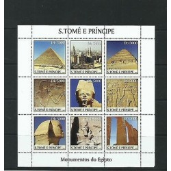 O) 2003 SAO TOME AND PRINCIPE, WORLD HERITAGE, ARCHEOLOGY, CAVE PAINTING, MONUME