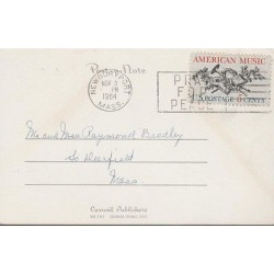 RO)1964 UNITED KINGDOM , POSTAL NOTE, AMERICAN MUSIC, OLD PHONE, XF