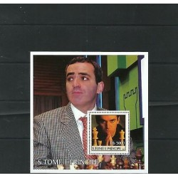 O) 2003 SAO TOME AND PRINCIPE, RUSSIAM CHESS GARRY KASPAROV - WORLD CHAMPION, S