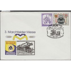O) 1991 AUSTRIA, STEAM TRAIN, ARCHITECTURE, MARCHFELDER MESSE, FDC XF