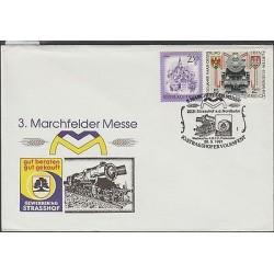O) 1991 AUSTRIA, STEAM TRAIN, ARCHITECTURE, MARCHFELDER MESSE, FDC XF