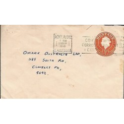 E)1969 AUSTRALIA, STAMP FANCY ORANGE, POSTAL STATIONERY, XF