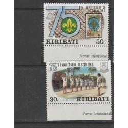O) 1982 KIRIBATI - AUSTRALIA, SCOUTS 1907, SET MNH-4