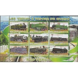 O) 2010 DJIBOUTI, STEAM TRAIN AUSTRALIA, MINI SHEET MNH