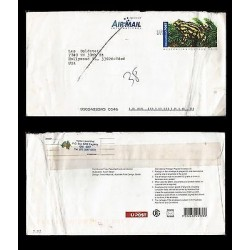 E)2008 AUSTRALIA, FROG, POSTAGE PAID, CIRCULATED COVER TO USA, XF