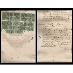 B)1878 CARIBBEAN , REVENUE DOCUMENT, LETTER ACCOUNT, HIGH VALUE, MULTIPLE, XF