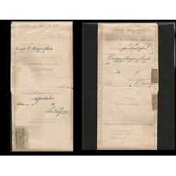 B)1889 CARIBBEAN, REGISTRATION TAG TO LA HABANA INSTITUTE, REVENUE DOCUMENT, X