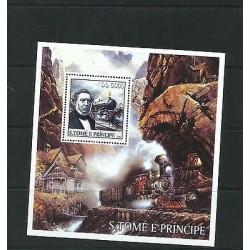 O) 2003 SAO TOME AND PRINCIPE, GEORGE STEPHENSON- INVENTOR OF STEAM LOCOMOTIVE B