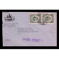 E)1958 ECUADOR, FRANCISCO JAVIER EUGENIO, STRIP OF 2, AIR MAIL, HOTEL COLON,