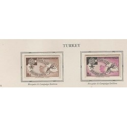O) 1962 TURKEY, , MOSQUITO, ZANCUDO TRANSMITS MALARIA, SET SLIGHT TONED MNH