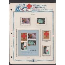 O) 1963 GHANA, RED CROSS CENTENARY, SET MNH